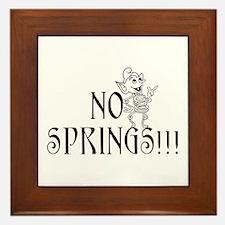 Funny Spring Framed Tile