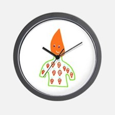 Carrot Head Wall Clock