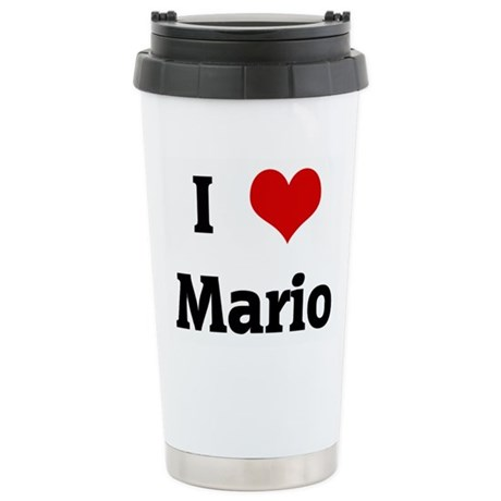 I Love Mario Stainless Steel Travel Mug