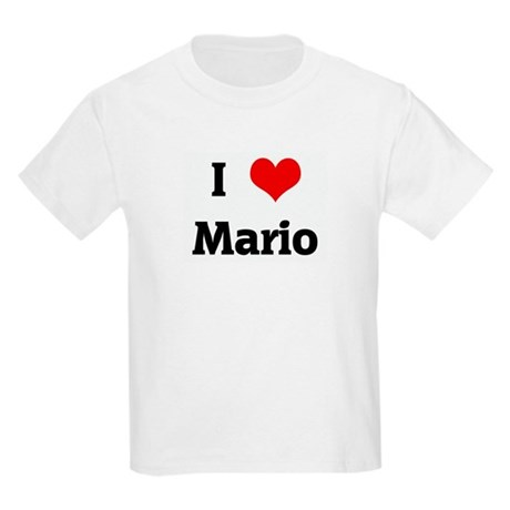 I Love Mario Kids Light T Shirt I Love Mario T Shirt