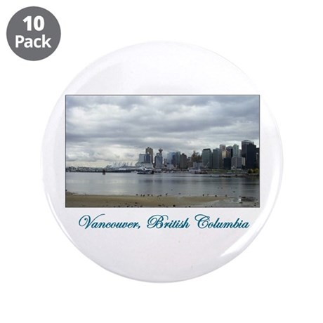 "Downtown Vancouver BC 3.5"" Button (10 pack)"