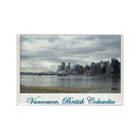 Downtown Vancouver BC Rectangle Magnet (100 pack)