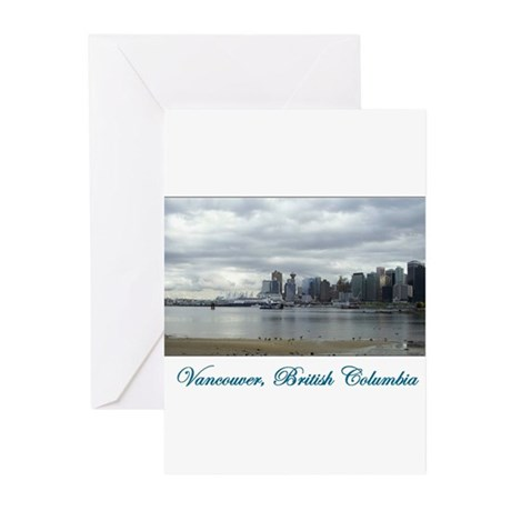 Downtown Vancouver BC Greeting Cards (Pk of 20)