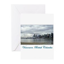 Downtown Vancouver BC Greeting Cards (Pk of 10)
