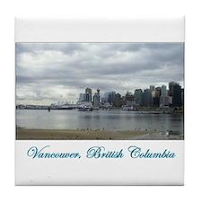 Downtown Vancouver BC Tile Coaster