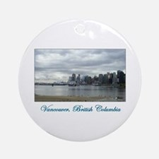Downtown Vancouver BC Round Ornament