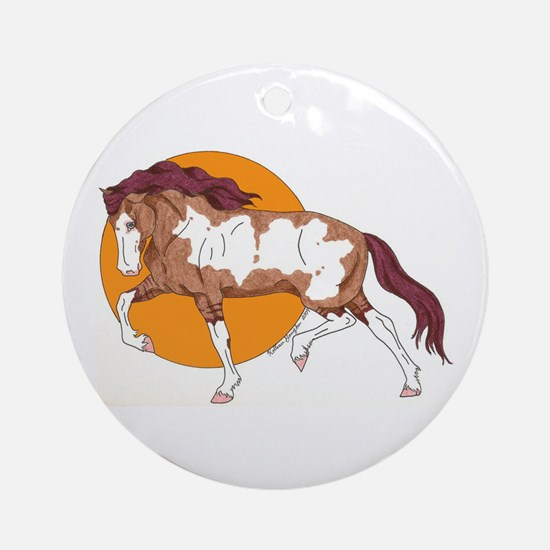 Spanish Mustang Ornament (Round)