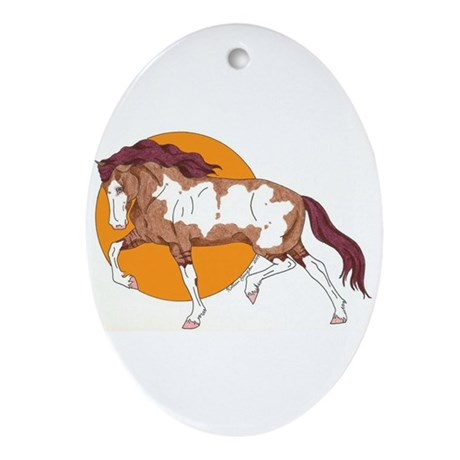 Spanish Mustang Oval Ornament