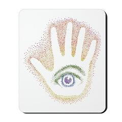 Rainbow Petro EyeHand Mousepad