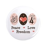 Peace Love Freedom July 4th 3.5