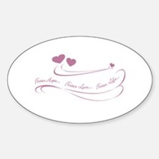 Foster Hope...Foster Love... Oval Decal