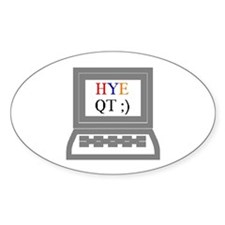 HYE QT Oval Decal