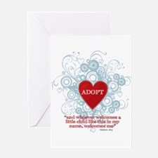 Cute Foster parents Greeting Card
