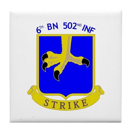6/502 INF Tile Coaster