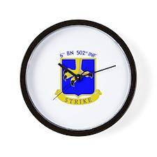 6/502 INF Wall Clock
