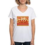 Hot Stuff Women's V-Neck T-Shirt