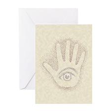 Earthy Petro EyeHand Greeting Card