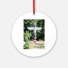 Stanley Park Totem Pole Ornament (Round)