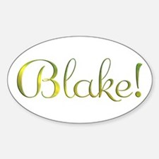 Blake! Design #801 Oval Decal