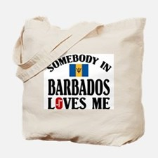 Somebody In Barbados Tote Bag