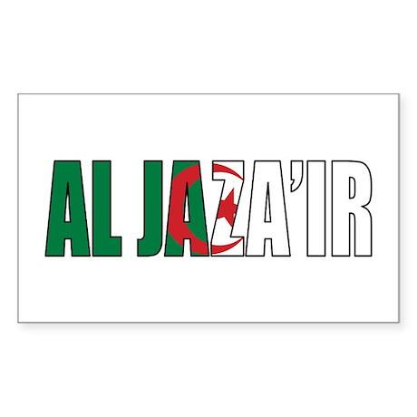 Algeria Rectangle Sticker 50 pk)