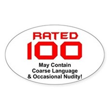 100th Birthday Oval Decal