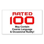 100th Birthday Rectangle Sticker