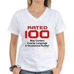 100th Birthday Women's V-Neck T-Shirt