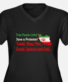Save a Protester! Tweet, Film Women's Plus Size V-