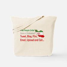 Save a Protester! Tweet, Film Tote Bag