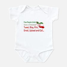 Save a Protester! Tweet, Film Infant Bodysuit