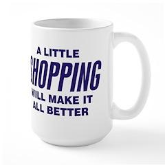 A Little Shopping Large Mug