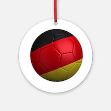 German Soccer Ball Ornament (Round)