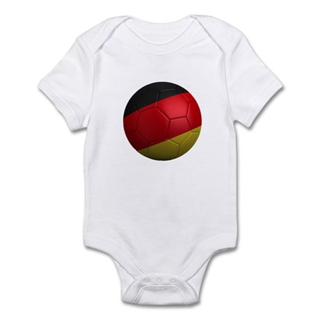German Soccer Ball Infant Bodysuit