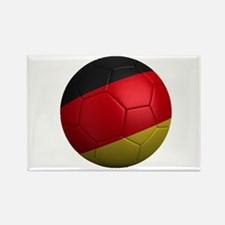 German Soccer Ball Rectangle Magnet