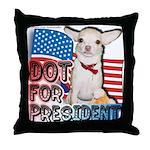Dot for President Throw Pillow