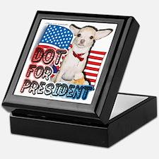 Dot for President Keepsake Box