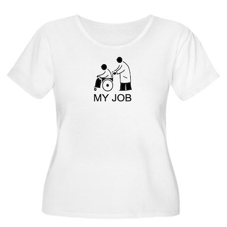 HEALTHCARE Women's Plus Size Scoop Neck T-Shirt