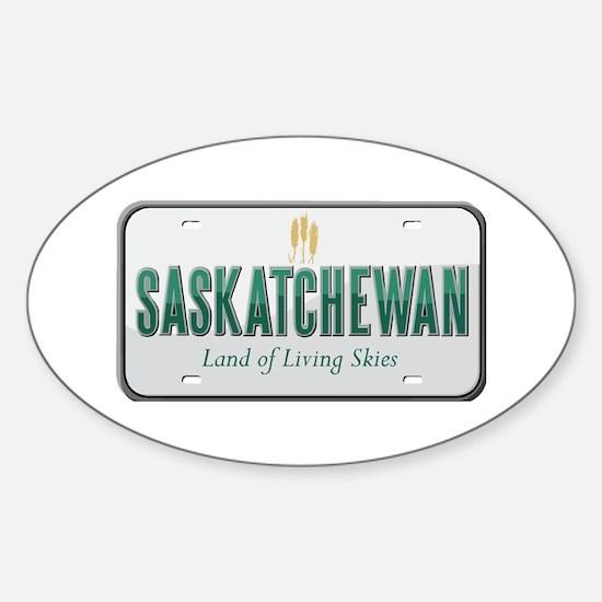 Saskatchewan Oval Bumper Stickers
