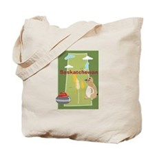 Saskatchewan Map Tote Bag