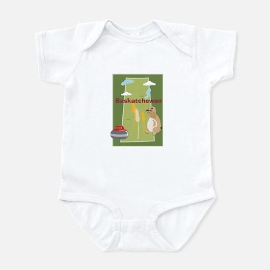 Saskatchewan Map Infant Bodysuit