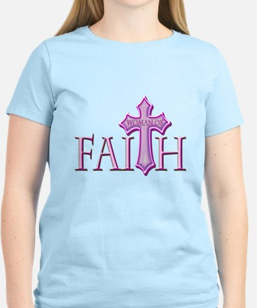 Woman of Faith Women's Light T-Shirt