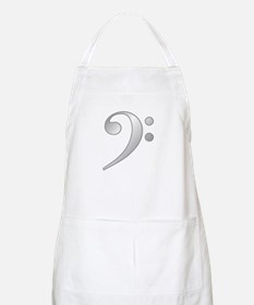 """Silver"" Bass Clef BBQ Apron"