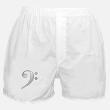 """Silver"" Bass Clef Boxer Shorts"