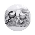 Norwich Cropper Pigeons Ornament (Round)