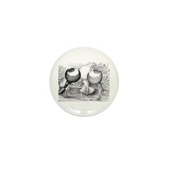 Norwich Cropper Pigeons Mini Button (100 pack)