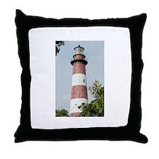Assateague Lighthouse Photo Throw Pillow