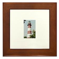Assateague Lighthouse Photo Framed Tile