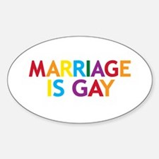 Marriage is Gay Oval Stickers