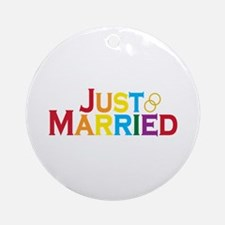 Just Married (Gay) Ornament (Round)